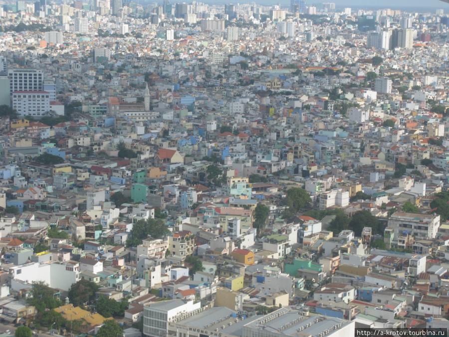Город Сайгон (Хошимин), вид с самолёта