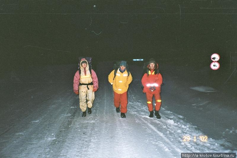 Ночная трасса на Енисейск