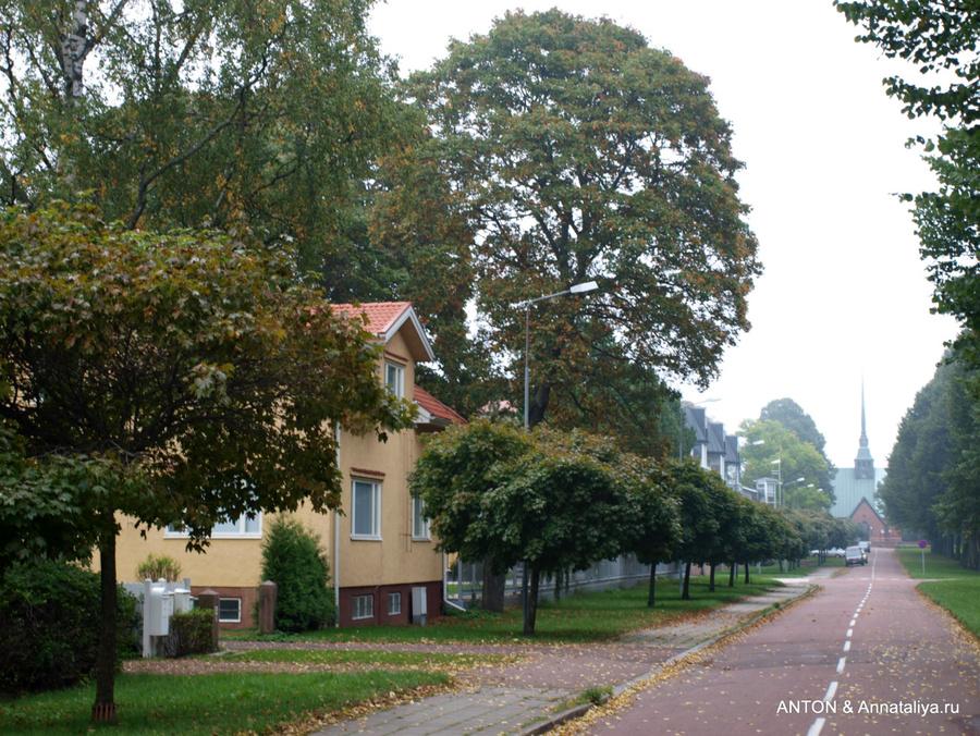 Одна из центральных улиц Мариехамна