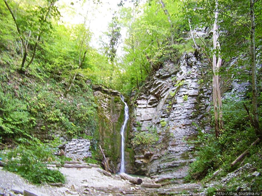 Сентябрь-2009. Поездка на Пшадские водопады.  На большом Медвежьем водопаде