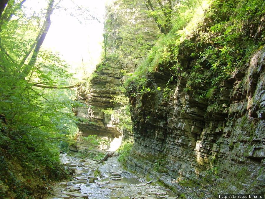 Сентябрь-2009. Поездка на Пшадские водопады. Романтика горного ущелья