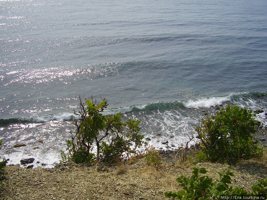 Сентябрь 2007. Поездка в Большой Утриш. Вид с горы на море