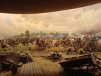 Диарама Полтавской битвы в Музее Полтавской битвы.
