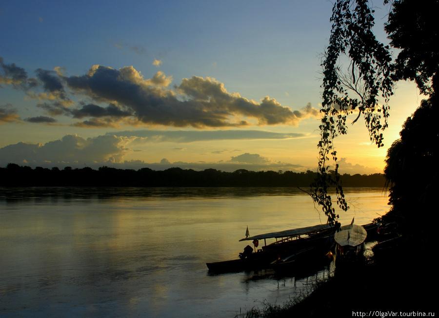 Река Madre de Dios — закат