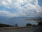 вид на залив Мирабелла и город Агиос Николаос по дороге из Элунда