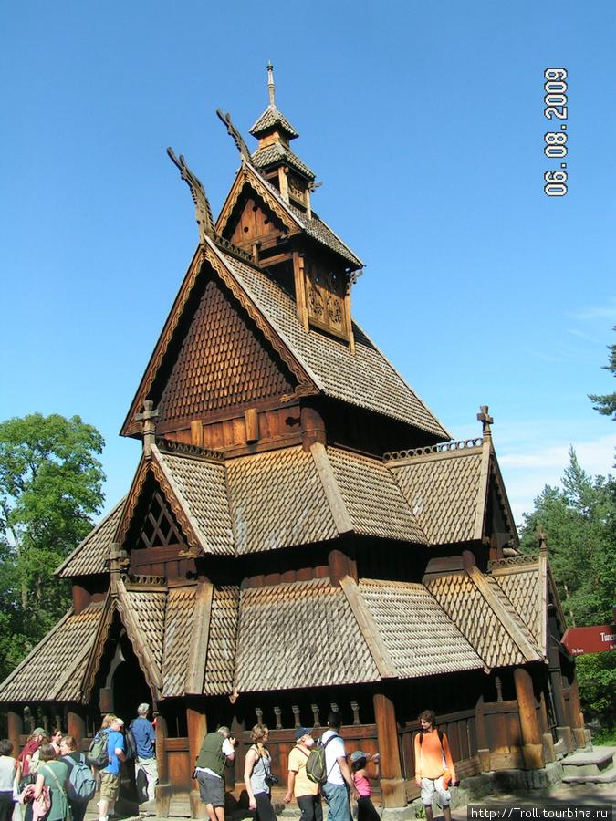 Знаменитая деревянная церковь