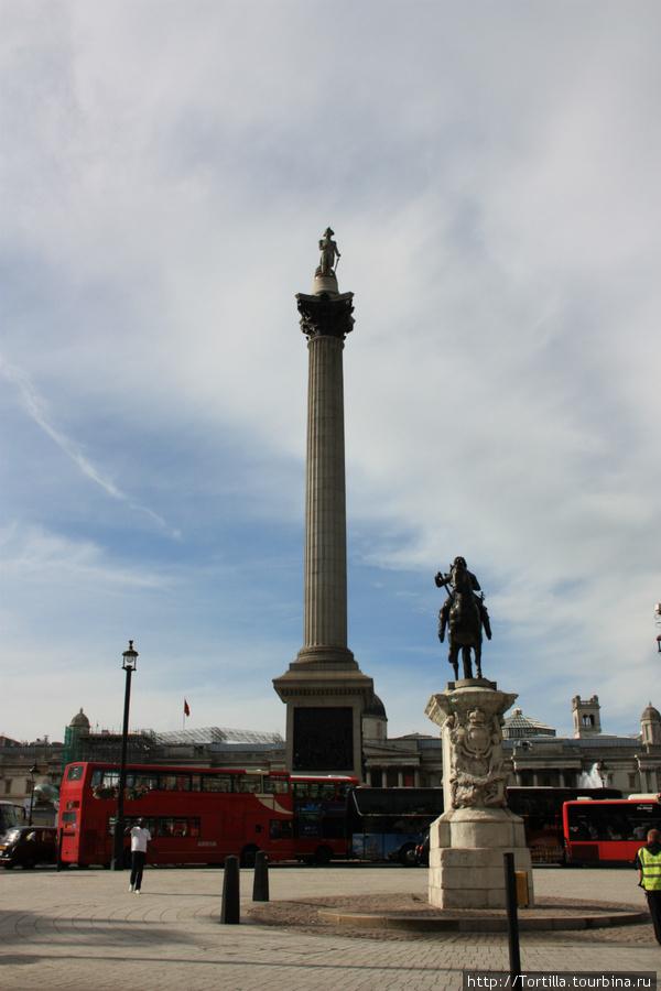 Трафалгарская площадь и колонна Нельсона