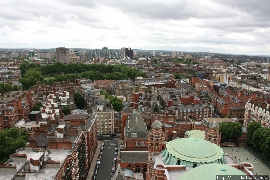 вид на Лондон с колокольни Вестминстерского собора