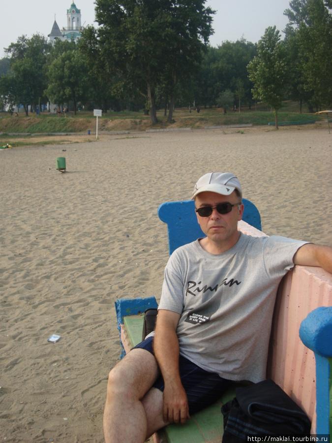 Ярославль. Пляж на реке Которосль.