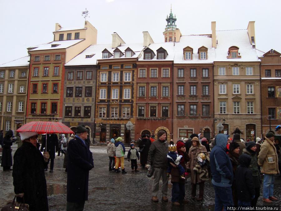 Варшава. Площадь Старая Място- исторический центр города.