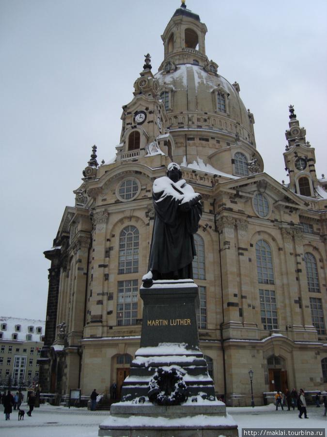 Дрезден. Церковь Фрауенкирхе.