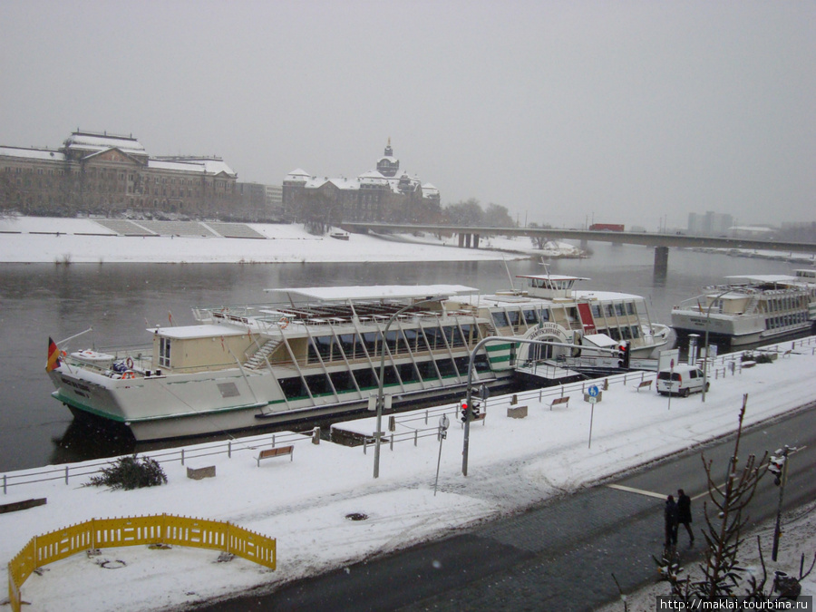 Дрезден. Набережная Эльбы
