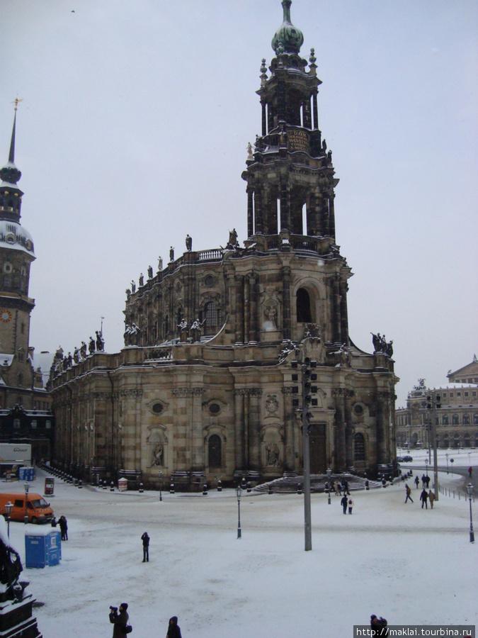 Дрезден. Собор Святой Тро