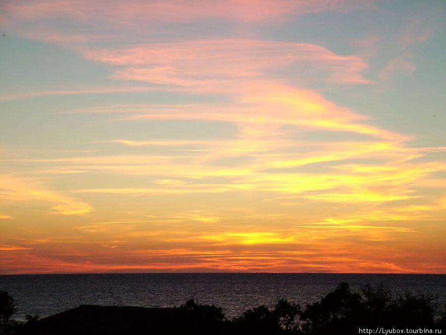 Закат на польской Балтике