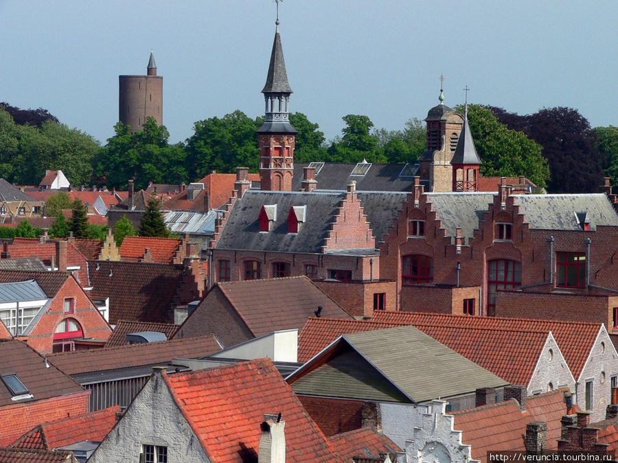 Вид на Брюгге с крыши пивоварни