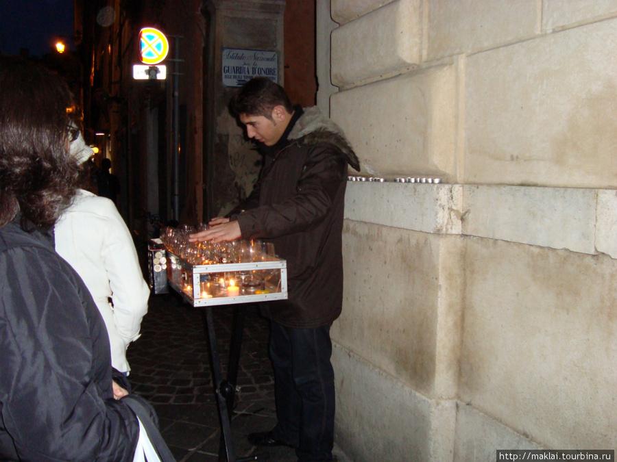 Рим. Музыкант.