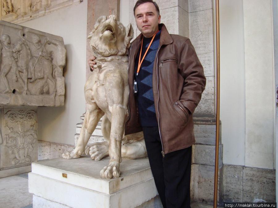 Ватиканский музей. Хорошее отношение к собакам.