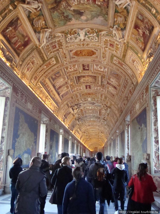 Ватиканский музей. Галерея карт.
