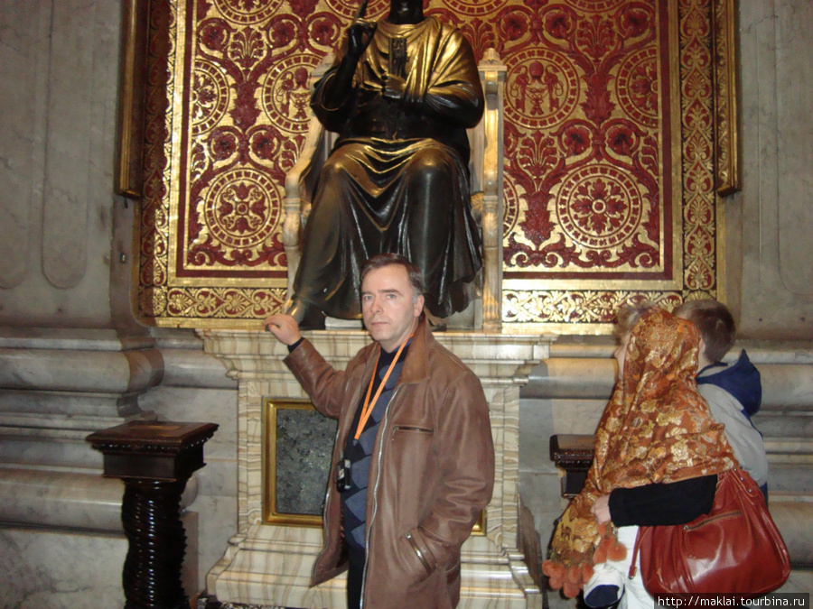 Ватикан. Собор Св.Петра. Скульптура Св.Петра.