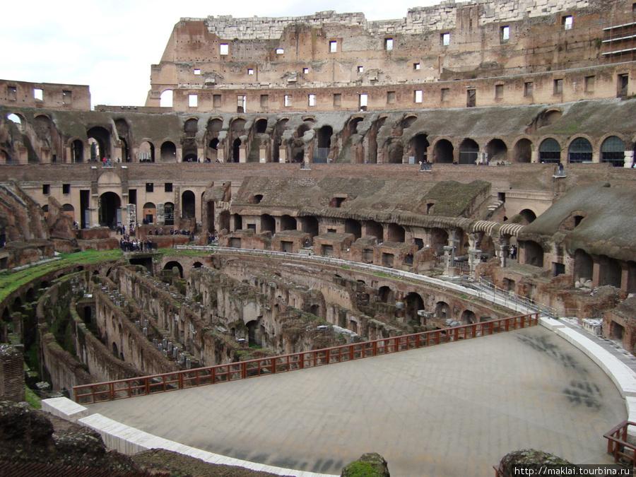 Рим. Колизей. Вид со втор