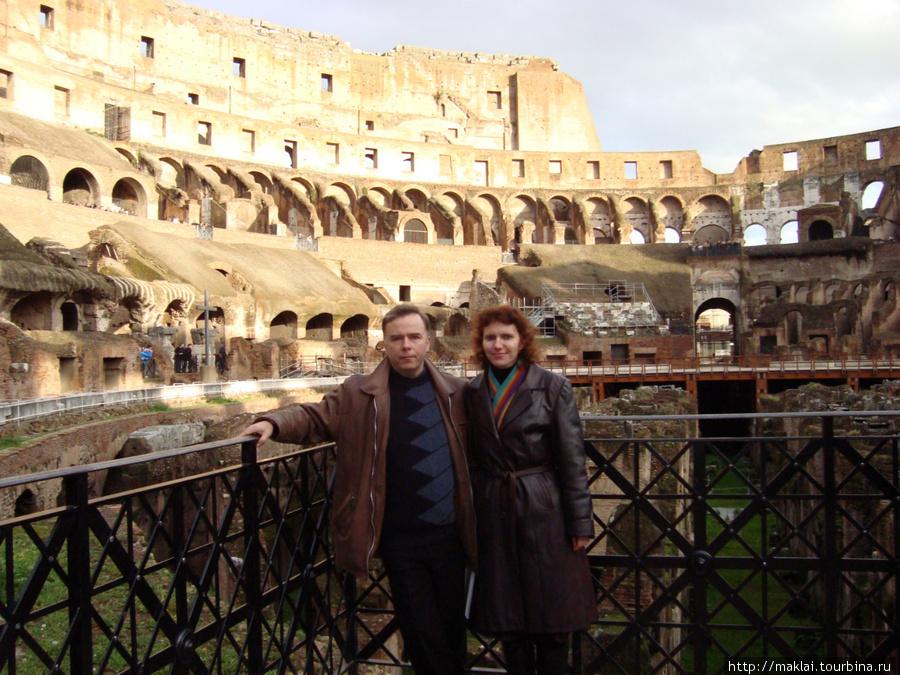 Рим. Колизей. Вид с первого яруса.