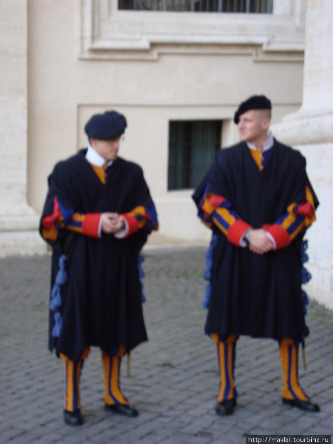 Ватикан. Швейцарские гвардейцы.