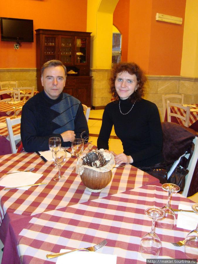 Рим. В ресторане на улице Трастевере.