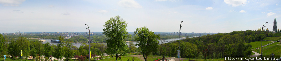 панорама на Днепр