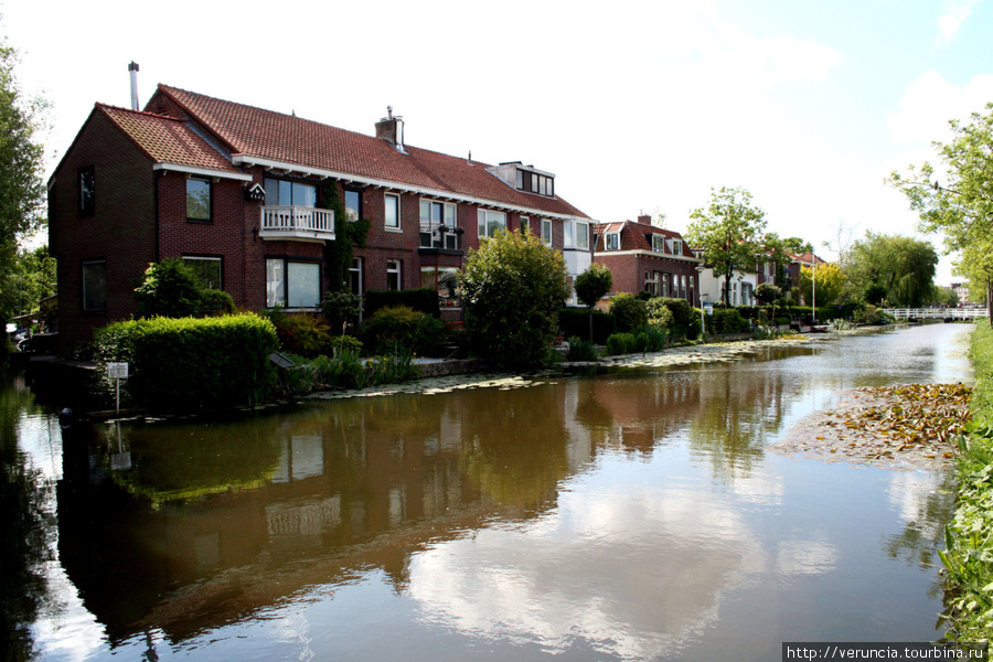 Частные дома на воде в пригороде