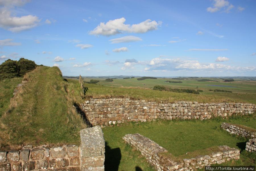 руины форта Стены Адриана