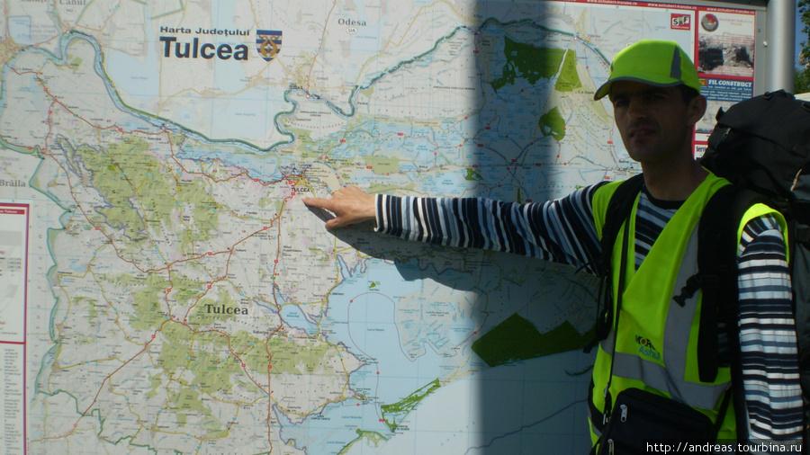 Карта у въезда в Тулчу