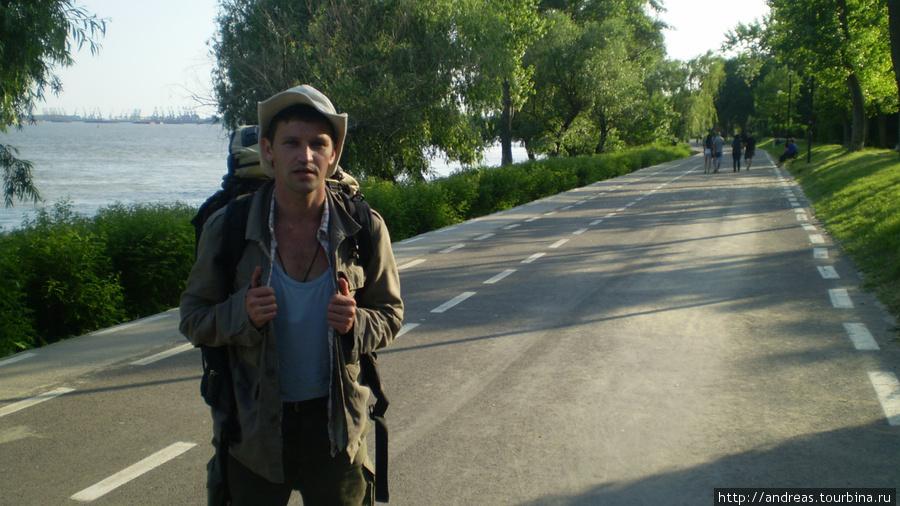 На набережной Галаца