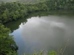 Вулканическая кальдера внутри острова — сейчас тут озеро