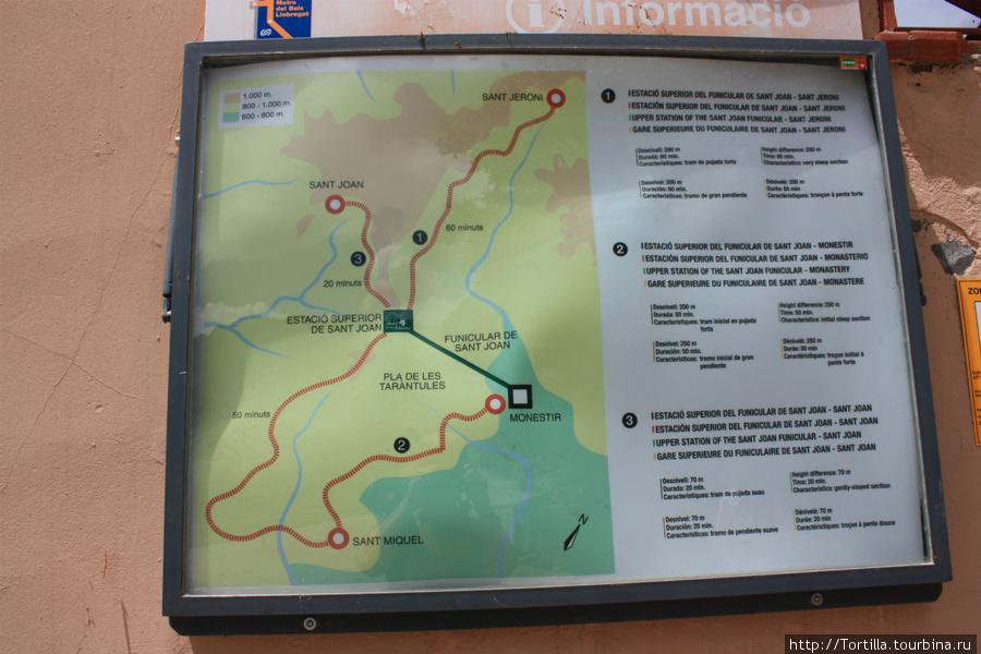 планы экскурсионных троп