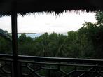 Вид с балкона коттеджа. Там все коттеджные поселки для туристов построены вдоль берега