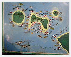 Карта дайв-сайтов