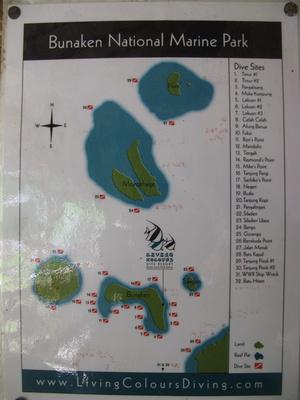 Еще карта. Дайвинг тут очень красивый — много кораллов, рыб, есть глубокие отвесные стены. Здесь я погрузился на 105 метров, и дна не увидел