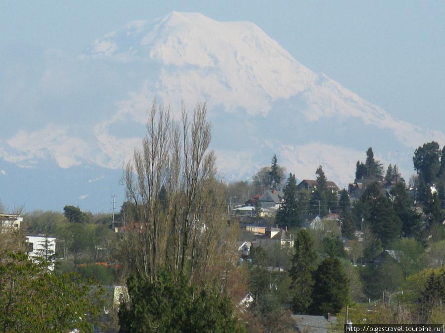 И вид на гору Рейнир.
