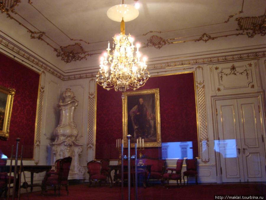 Вена. Интерьер дворца Хофбург. Зал приёмов.