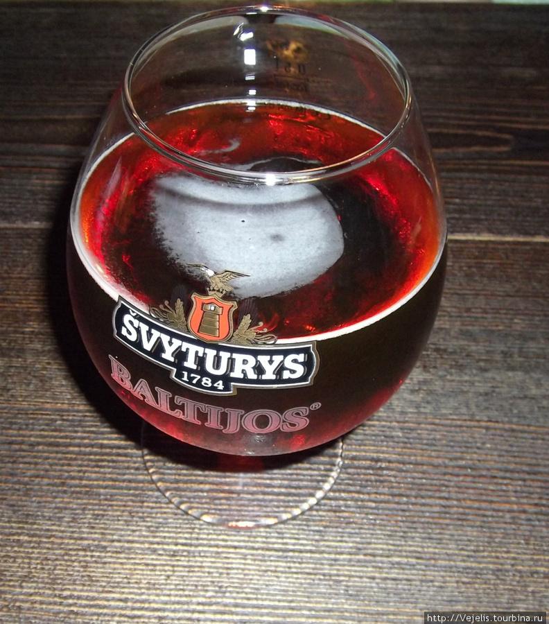 Švyturys Baltijos (красное или полутёмное) литовское пиво