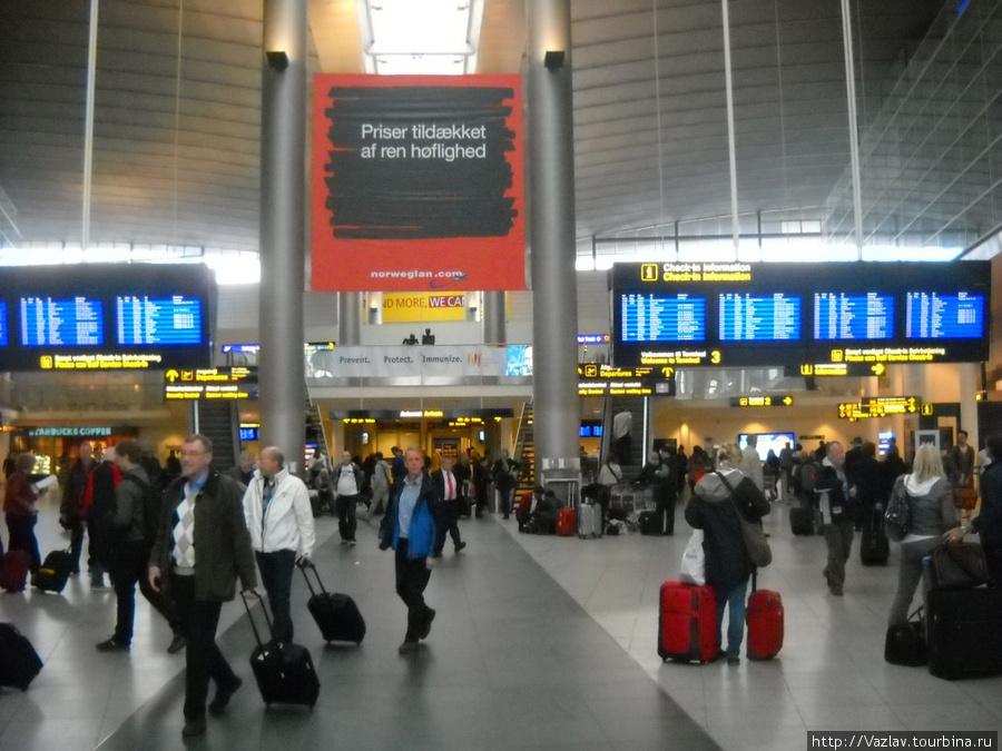 Главный зал аэропорта. Нашедшему хоть одну скамейку — приз!