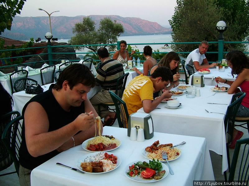Ужин в отеле