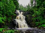 водопад Юканкоски (Белые мосты)  на реке Кулисмайоки — самый высокий водопад Приладожья (17 м)