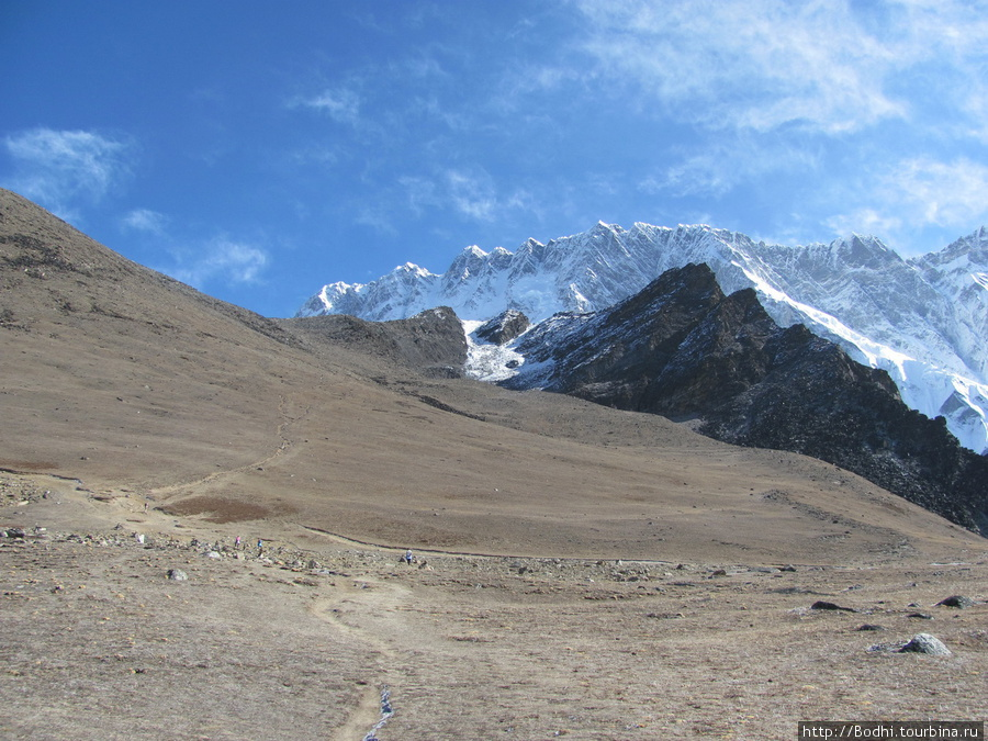 Подъем на Чукхунг-Ри (5535 метров). Впереди — гребень Нупцзе Чукунг, Непал