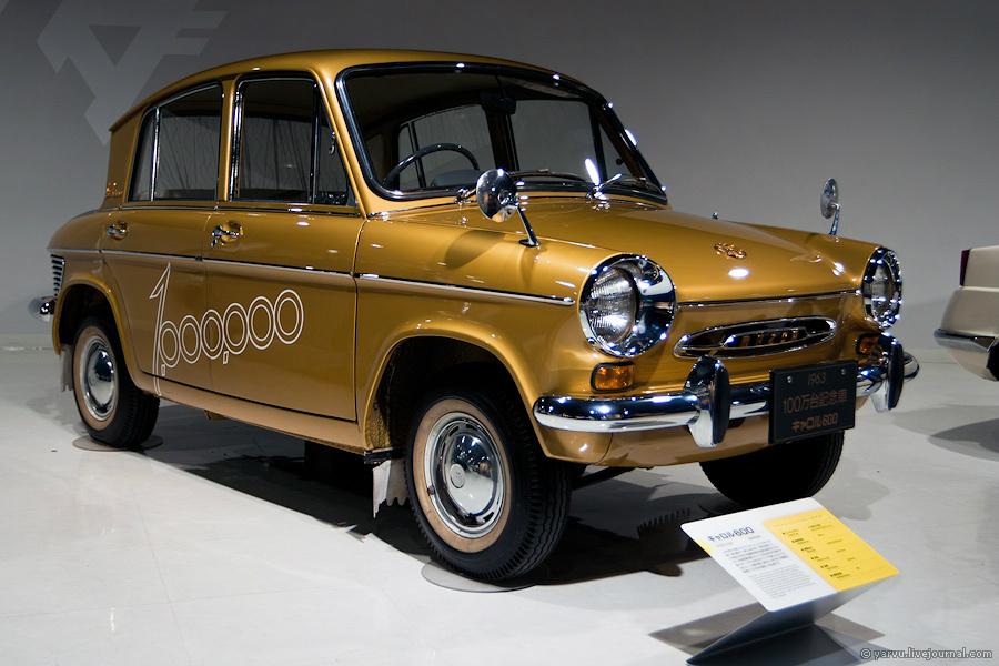 Mazda Carol 600 (1962 г.). В музее выставлен миллионный автомобиль, сошедший с конвеера 9 марта 1963 года.
