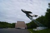 Самолет МИГ-15 с бортовым номером 44. На нем совершал тренировочные полеты Ю.Гагарин. Самолет называют