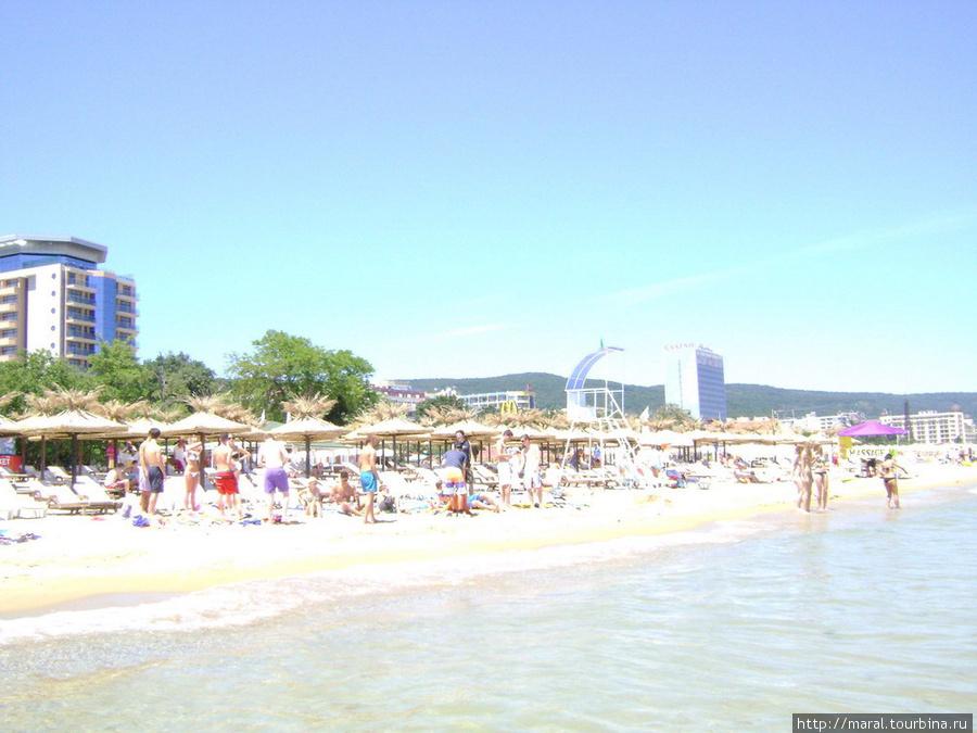 На пляже аншлаг