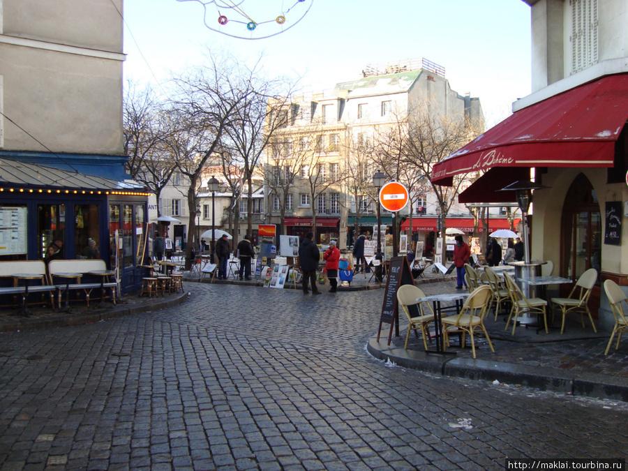 Париж. Монмартр. Площадь. Тертр.