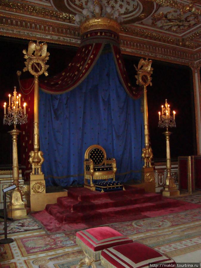 Замок Фонтенбло. Интерьер