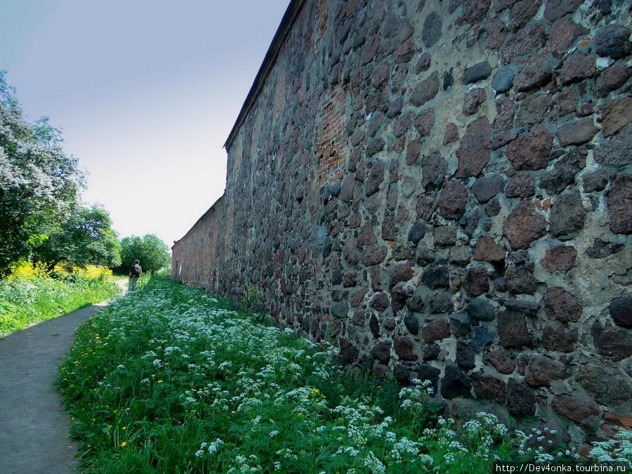 Мощные стены Выборгского замка